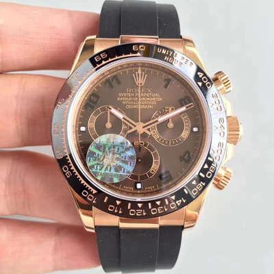 【JF1:1顶级复刻手表】劳力士宇宙计型迪通拿系列116515LN-L(FC) 咖啡色机械腕表价格报价