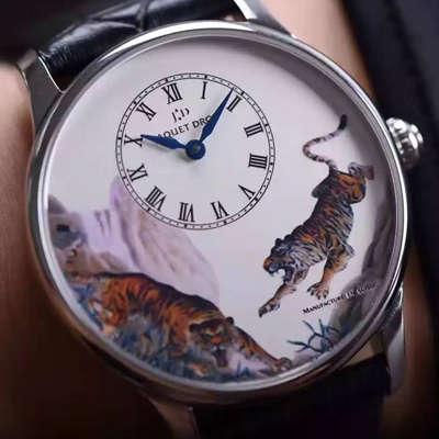 雅克德罗艺术工坊系列精品艺术大师级复刻腕表下山虎