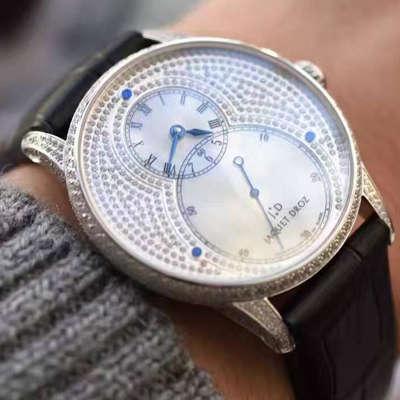 【实拍图鉴赏】一比一精仿手表之雅克德罗大秒针系列J003034205腕表