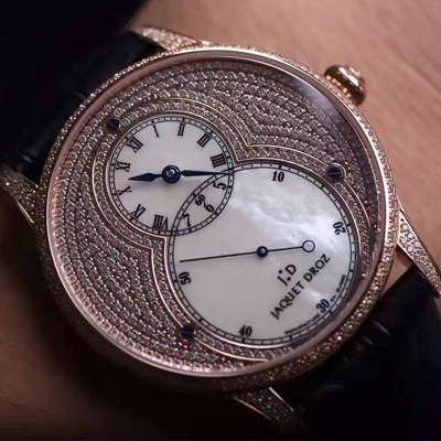 【实拍图鉴赏】1:1超A高仿手表之雅克德罗大秒针系列J014013226腕表