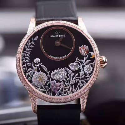 【实拍图鉴赏】KS1:1超A高仿手表之雅克德罗艺术工坊系列J005003221女表