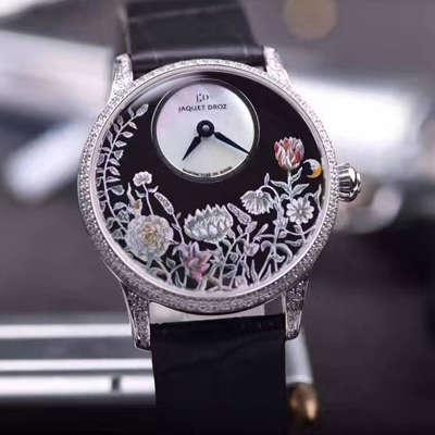 【实拍图鉴赏】KS1:1顶级复刻手表之雅克德罗艺术工坊系列J005004201女表