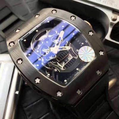 【视频解析】1:1超A精仿KV厂出品顶级版理查德米勒骷髅头RM 52系列手表
