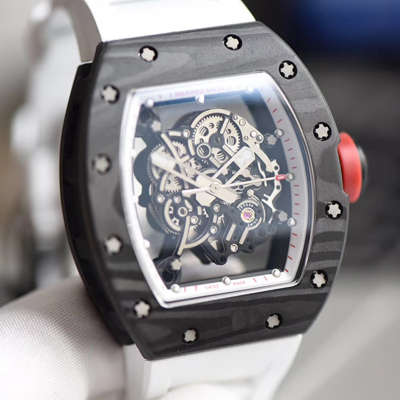 【KV厂一比一超A高仿手表】理查德.米勒RICHARD MILLE男士系列RM 055碳纤维白色橡胶带新款