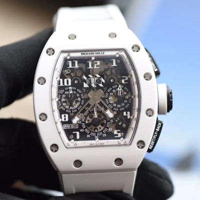 【KV厂一比一超A高仿手表】理查德米尔RICHARD MILLE男士系列RM011 白陶瓷多功能腕表