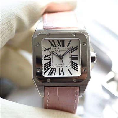 【独家视频测评V6厂一比一超A高仿手表】卡地亚山度士系列W20126X8 女士机械腕表