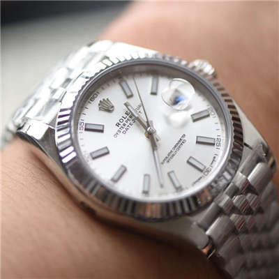 【N厂一比一高仿手表】劳力士日志型系列116334 白盘腕表价格报价