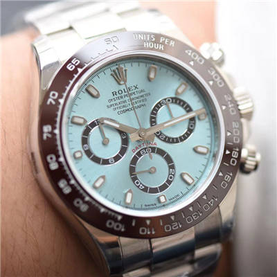 【N厂一比一超A高仿手表】劳力士宇宙计型迪通拿系列116506-78596冰蓝盘棕色计时外圈腕表价格报价