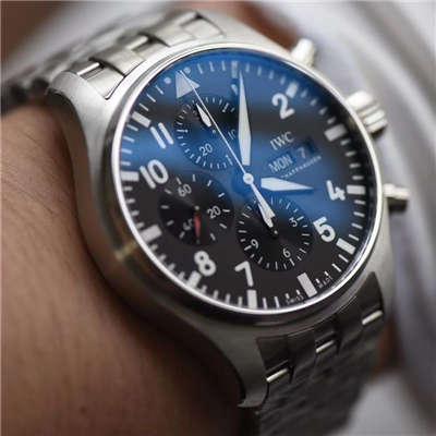 【ZF厂一比一精仿手表】万国飞行员CHRONOGRAPH计时腕表 系列IW377710腕表价格报价