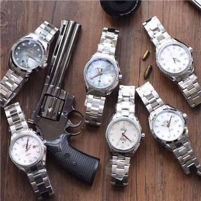 【台湾厂一比一超A高仿手表】欧米茄海马系列231.15.34.20.57.001女士机械腕表集合价格报价