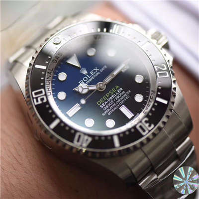 【AR一比一超A高仿手表】劳力士海使型系列116660-98210 蓝盘腕表(904钢渐变蓝鬼王)价格报价
