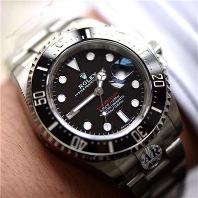 【独家视频评测AR一比一超A高仿手表】劳力士ROLEX海使型系列Rolex Sea-Dweller 50周年126600 单红43毫米腕表价格报价