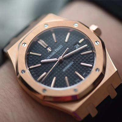 【JF厂1:1复刻手表】爱彼皇家橡树系列15400OR.OO.D002CR.01腕表《真皮表带款》价格报价