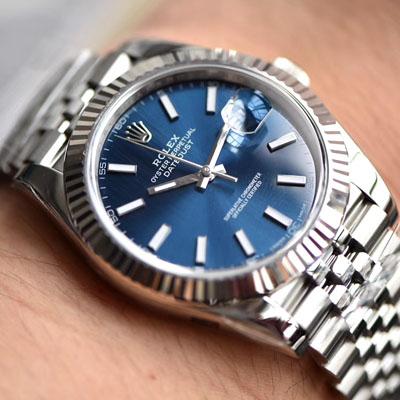 【AR一比一超A顶级高仿】劳力士日志型DATEJUST系列116334-72210蓝盘腕表904钢价格报价