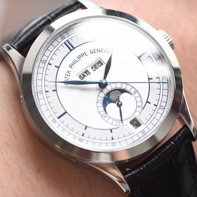 【台湾厂一比一超A精仿手表】百达翡丽复杂功能计时系列5396G 白金男表