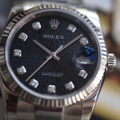【视频评测仿劳力士男表价格】DJ厂电脑纹面劳力士日志型36系列m116234-0122腕表