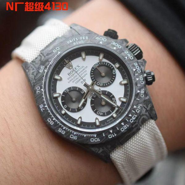 独家视频评测劳力士N厂超级碳纤维4130迪通拿一比一高仿diw定制版手表价格报价