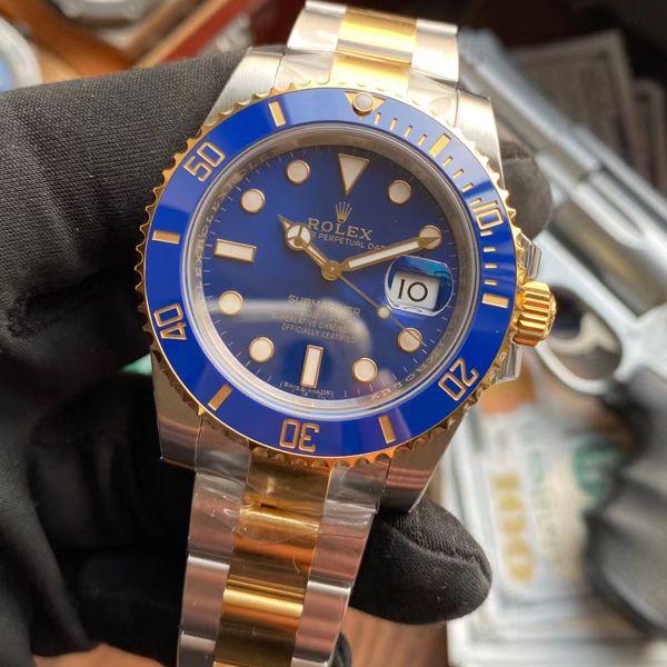 VS厂劳力士潜航者型间金蓝水鬼一比一顶级精仿手表116613LB-97203价格报价