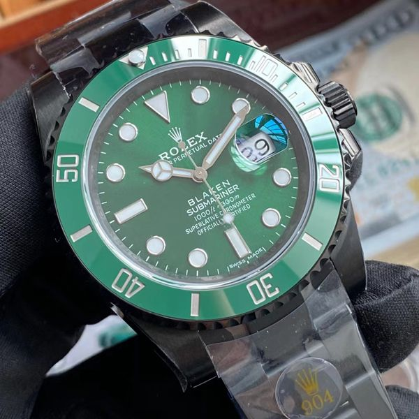 V6厂2020年跨年力作一比一复刻劳力士BLAKEN 改装定制绿水鬼手表价格报价