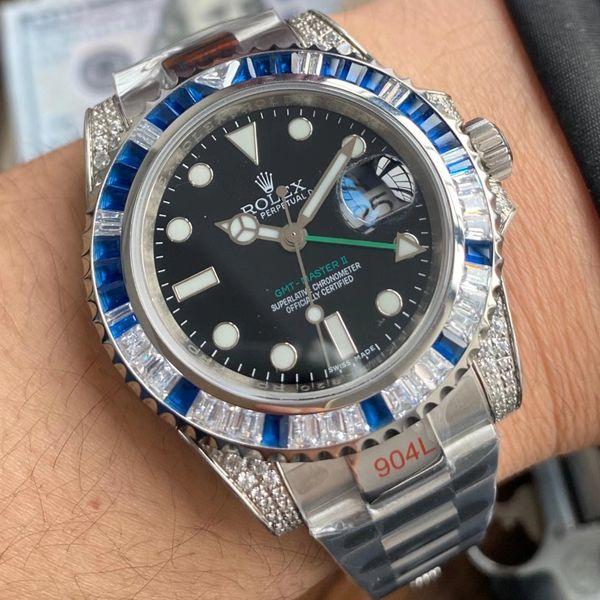 【视频评测】劳力士T钻奢华版格林尼治GMT顶级1比1高仿手表价格报价