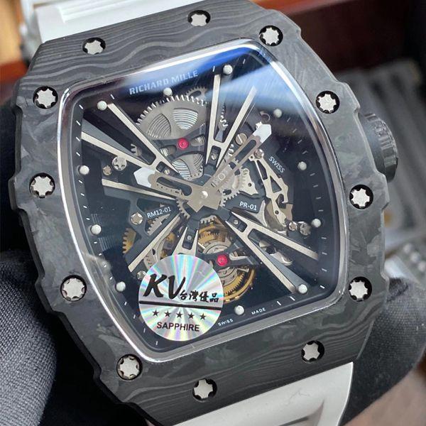 KV厂理查德米勒RICHARD MILLE RM 12-01 陀飞轮一比一超A精仿手表价格报价