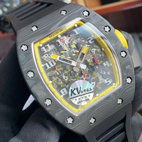 KV厂理查德米勒RM011 Yellow Storm黄色风暴顶级复刻手表价格报价