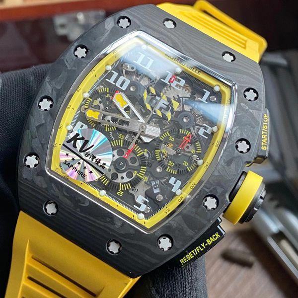 KV厂理查德米勒RM011 Yellow Storm黄色风暴一比一超A高仿手表价格报价