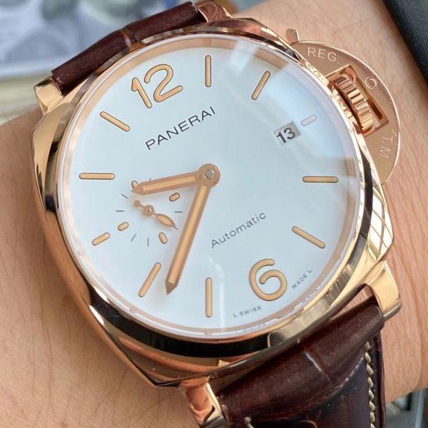 VS厂沛纳海PAM1042一比一顶级高仿手表LUMINOR DUE小红金PAM01042腕表价格报价
