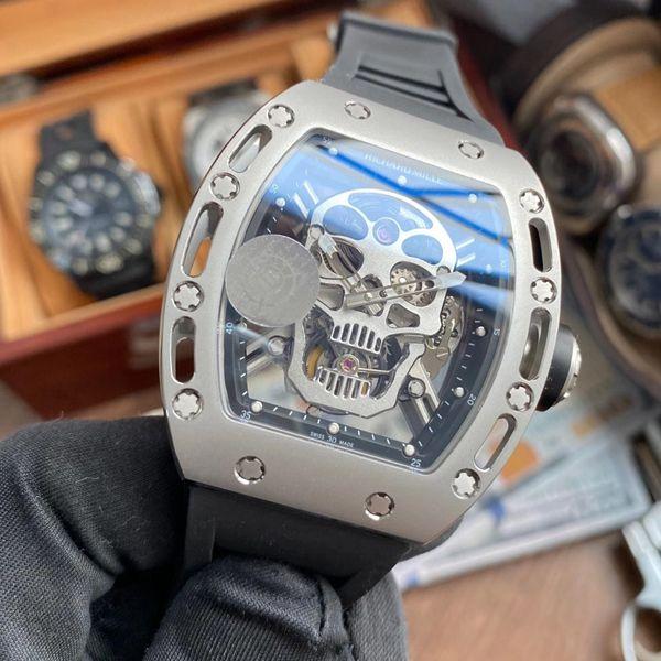 【视频评测】JB厂里查德米尔一比一超A高仿手表男士系列RM 052骷髅头腕表价格报价