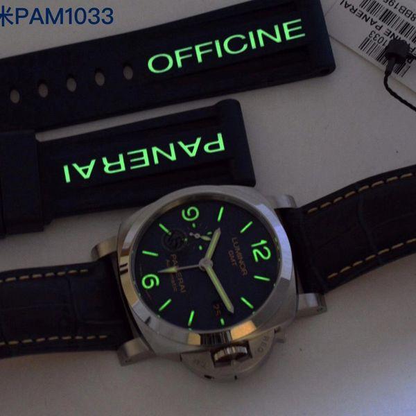 VS厂沛纳海一比一超A复刻手表GMT两地时PAM01033腕表价格报价