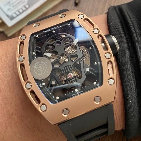 JB厂理查德米勒RM52-01真陀飞轮骷髅头1比1顶级复刻手表RICHARD MILLE腕表价格报价