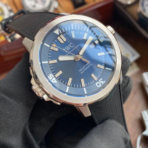 【视频评测V6厂蓝色字面完美升级】万国海洋时计1比1顶级高仿手表IW329005腕表价格报价