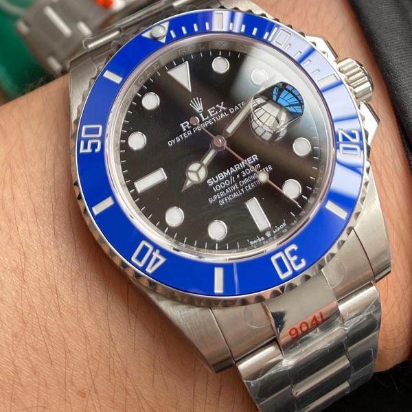 【视频评测】EW厂劳力士41毫米蓝水鬼一比一精仿手表m126619lb-0003腕表价格报价