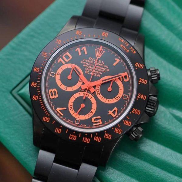 【IPK厂Blaken劳力士迪通拿】改装磨砂碳化黑腕表N厂超级4130迪通拿为基础价格报价