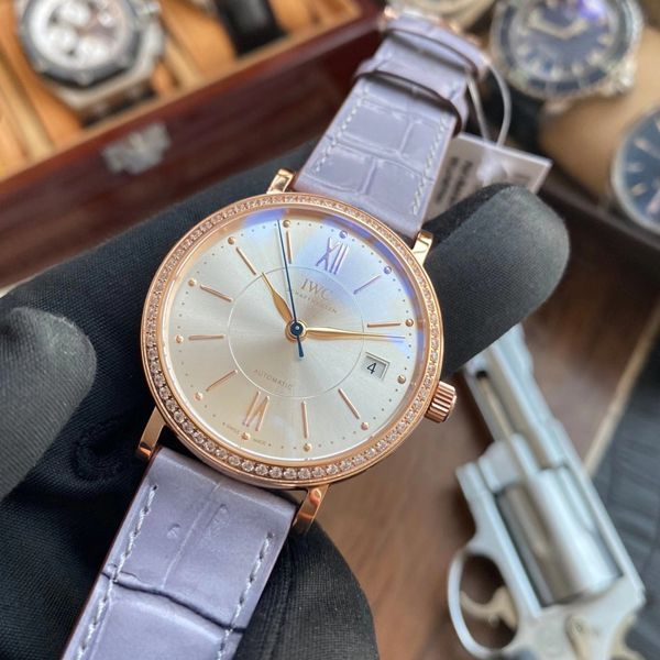 【顶级复刻手表最靠谱的商家】V7厂万国IWC柏涛菲诺系列IW458107女表价格报价
