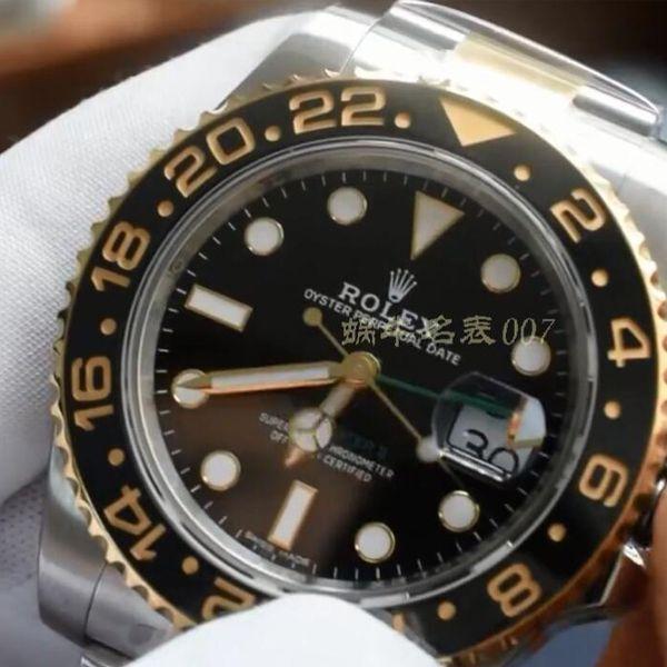 【视频评测】AR厂1比1复刻劳力士间金格林尼治型II手表116713-LN-78203腕表价格报价