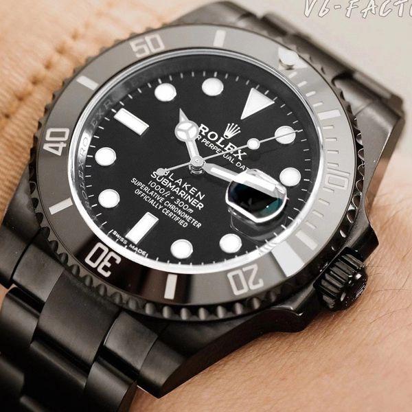 V6厂官网劳力士黑水鬼暗夜黑特别版BLAKEN 116610LN SUBMARINER DATE改装手表价格报价