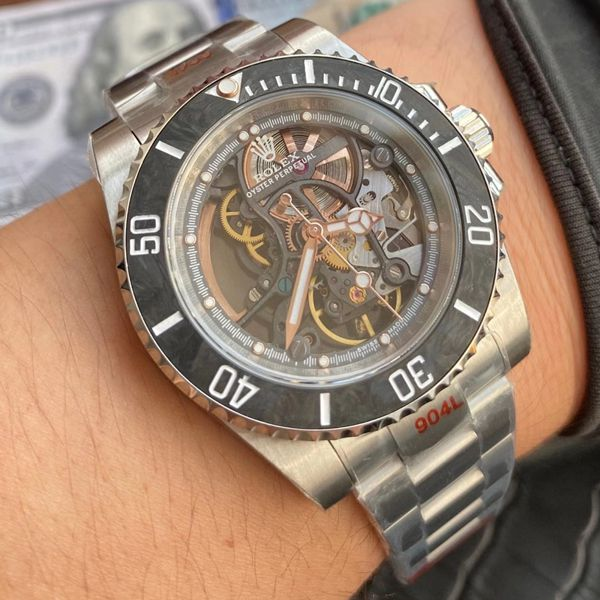 【视频评测】WWF厂官网1比1高仿劳力士全镂空改装潜航者116610手表价格报价