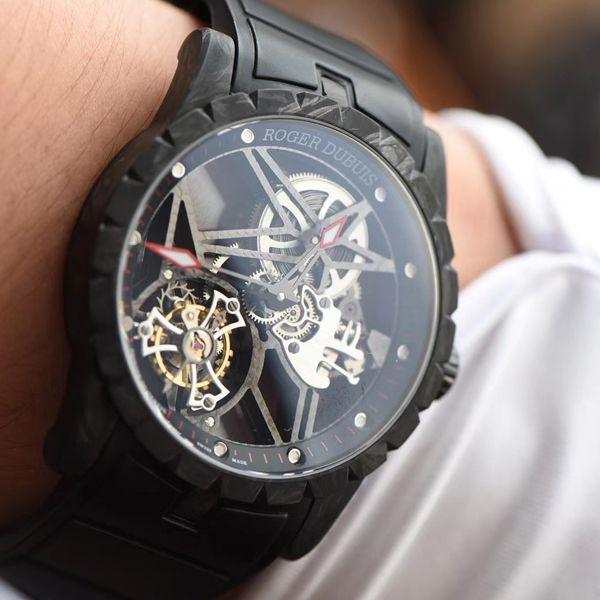 BBR厂罗杰杜彼Roger Dubuis王者系列碳纤维陀飞轮1比1精仿手表DBEX0577腕表价格报价