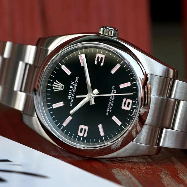 KRF厂劳力士蚝式恒动系列116000黑盘1比1复刻手表价格报价